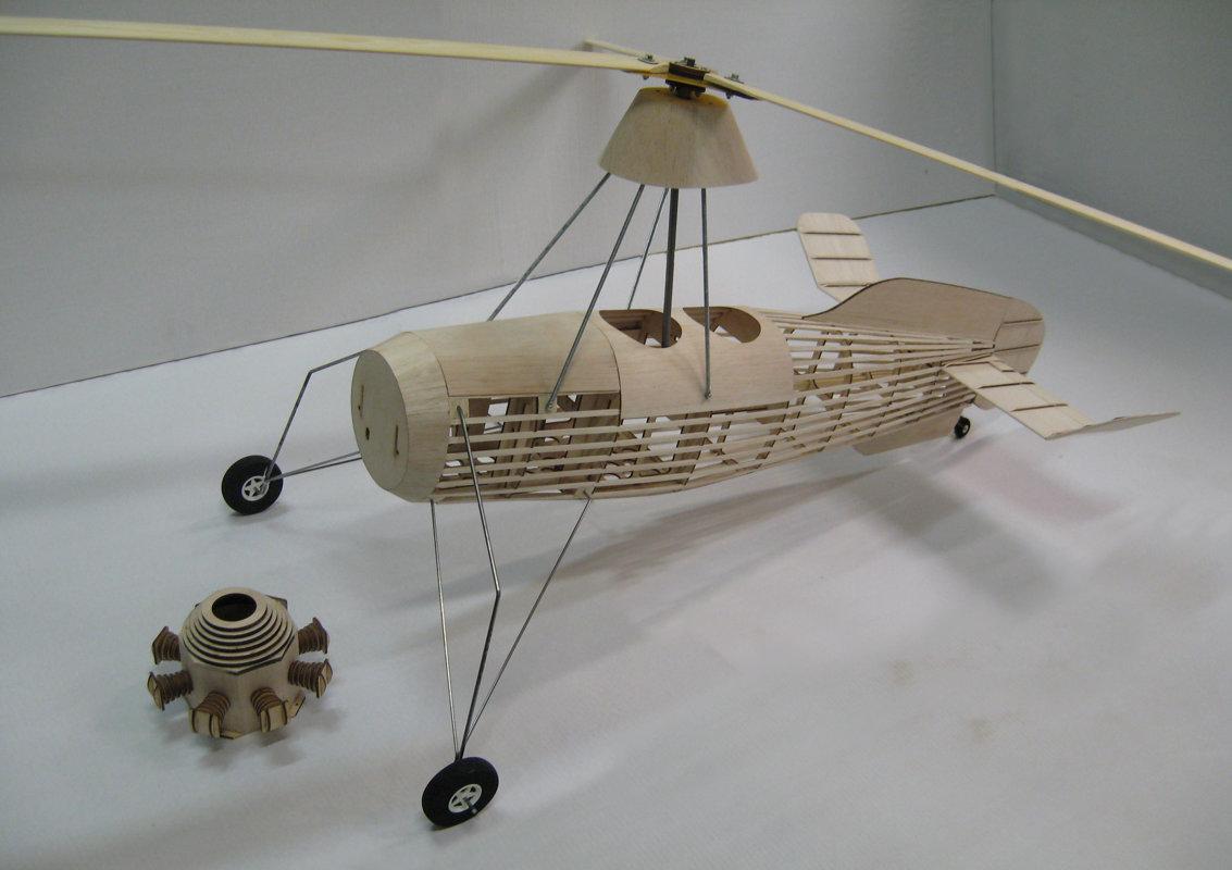 Cierva C30 autogyro KIT model - KIT models - RC autogyro KIT models