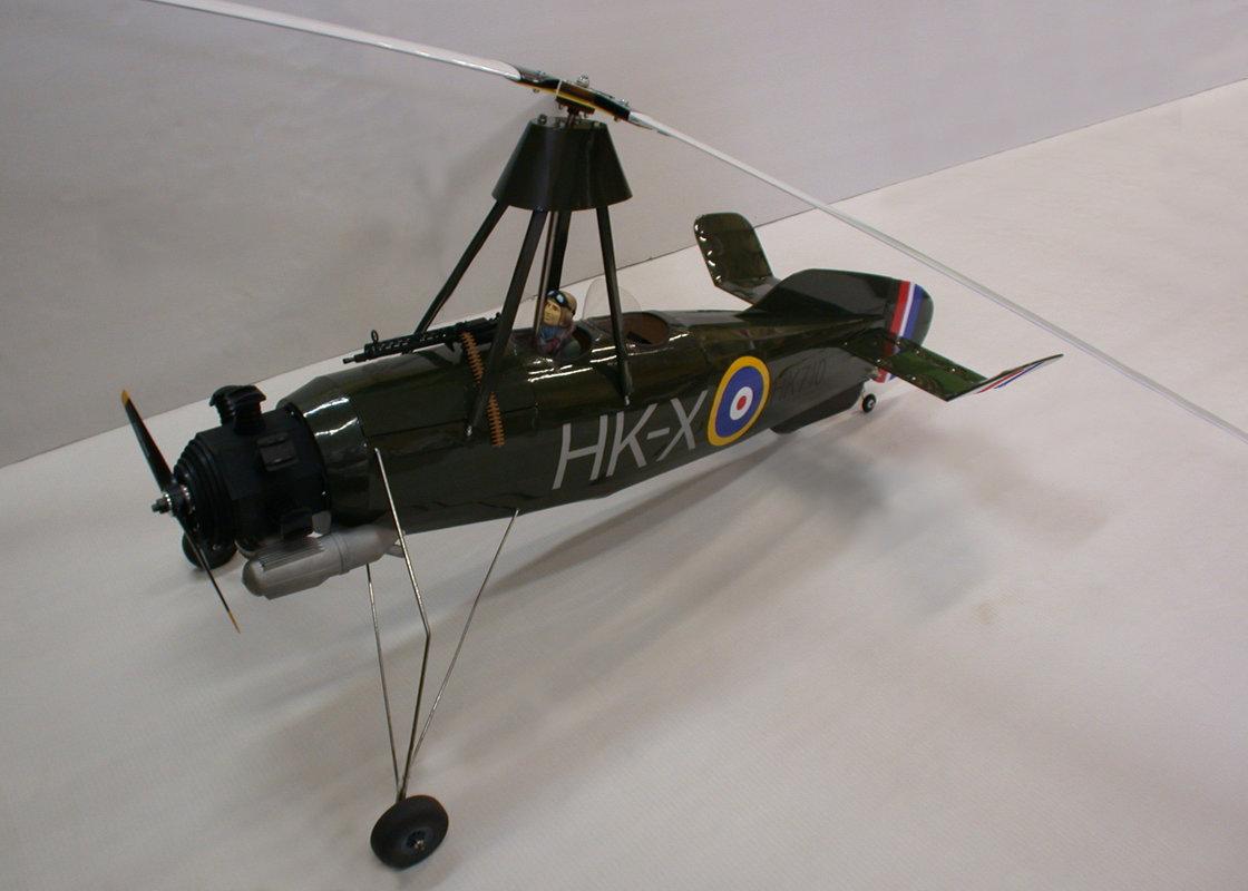 Cierva C30 autogyro KIT model